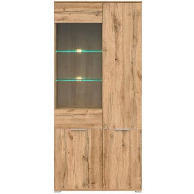 Zele vitrin wotan tölgy 1 üvegezett és 3 normál ajtóval
