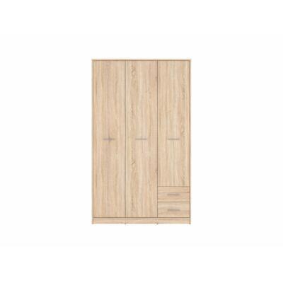 NEPO PLUS Akasztós szekrény 3 ajtóval és 2 fiókkal Sonoma