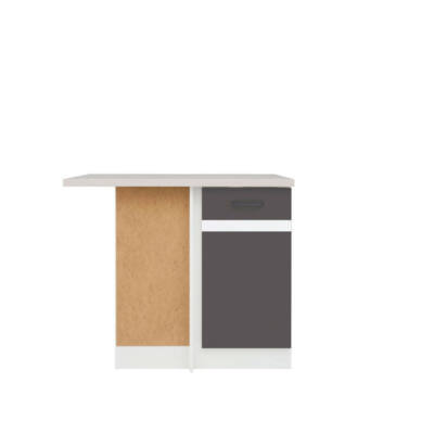 JUNO WHITE GRAFIT sarokszekrény 1 ajtóval (bal)