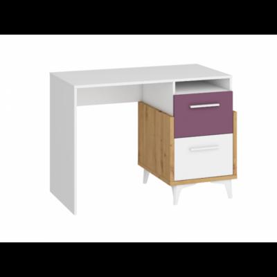 Hey íróasztal Artisan tölgy/ fehér ibolya