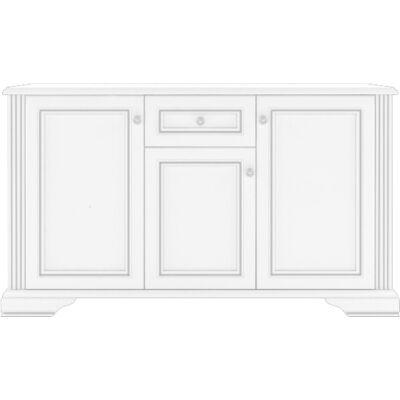 WHITE komód 3 ajtóval és 1 fiókkal