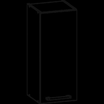 Rio 30cm felső szekrény Matt sanremo tölgy/fehér