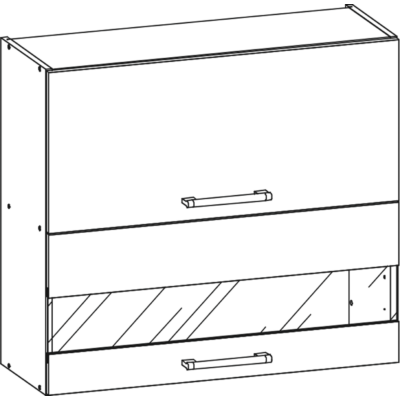 Rio 80cm üveges felső szekrény