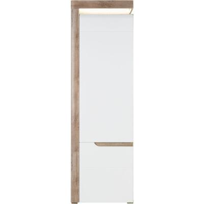 IRMA magas szekrény tölgy – fehér