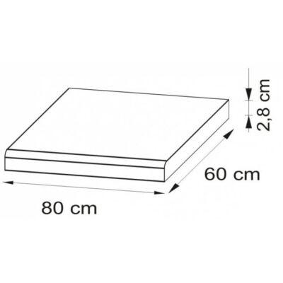 JUNO WHITE Munkalap 80 cm Beton
