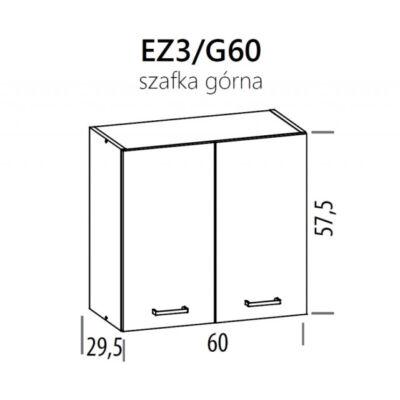 JUNO  ELENA felső szekrény 60cm