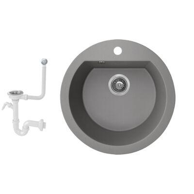 DIANA 3 Szürke gránit mosogatótálca Klikk-klakk lefolyóval