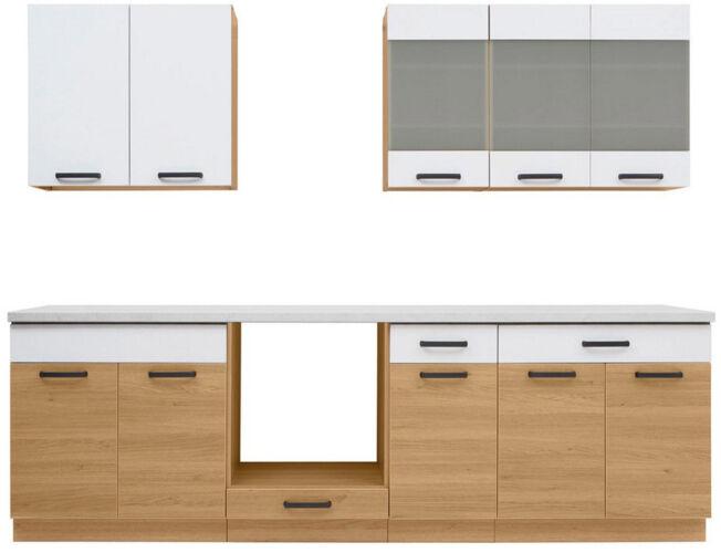 Fehér Semi Line 260 konyha sütőszekrénnyel és csepegtetővel
